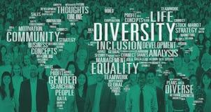De Wereld Globaal Communautair Concept van het diversiteitsbehoren tot een bepaald ras vector illustratie