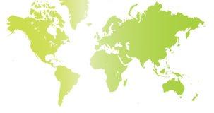 De wereld in groene kleur. Stock Afbeelding