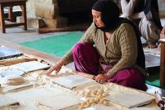 De wereld grootste vrije keuken van Harmandir Sahib (Gouden Tempel) Stock Fotografie