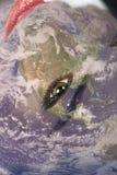 De wereld levend-bewaart nog de aarde stock afbeelding