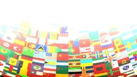 De wereld markeert Lijn vector illustratie