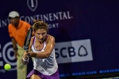 De wereld No 20 tennisspeler Sara Errani Stock Foto's