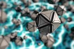 De wereld onder de microscoop Stock Afbeelding