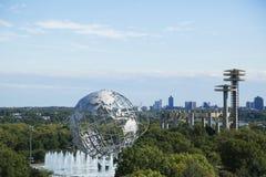 1964 de Wereld s Eerlijke Unisphere van New York in het Spoelen van Weidenpark Royalty-vrije Stock Afbeelding
