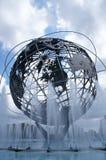 1964 de Wereld s Eerlijke Unisphere van New York in het Spoelen van Weidenpark, Queens, NY Stock Fotografie