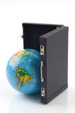De wereld in uw koffer Royalty-vrije Stock Afbeeldingen