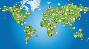 De wereld van bloemen Stock Afbeelding