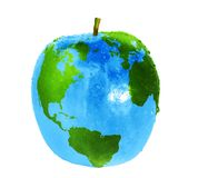 De wereld van de appel Stock Foto's