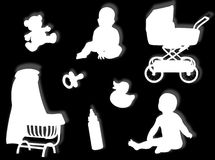De wereld van de baby Stock Foto's