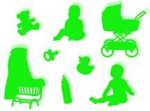De wereld van de baby Stock Fotografie