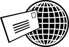 De wereld van de brief royalty-vrije illustratie