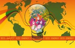 De Wereld van de Energie van Eco vector illustratie