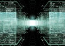 De wereld van de hakker Stock Afbeelding