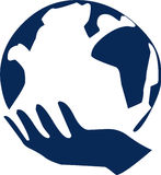 De Wereld van de hand vector illustratie