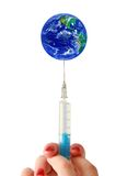 De wereld van de inenting Stock Foto's