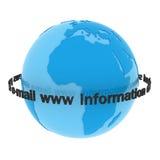 De wereld van de informatie Stock Afbeeldingen