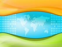 De wereld van de kaart stock illustratie