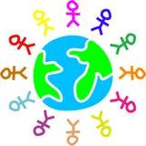 De Wereld van de stok stock illustratie
