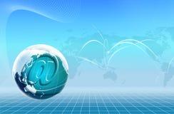 De Wereld van de technologie en E-mailpictogram Royalty-vrije Stock Afbeelding