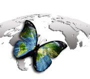 De Wereld van de vlinder vector illustratie