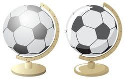 De Wereld van de voetbal/van het Voetbal Stock Afbeelding