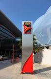 De Wereld van Ferrari van het vermaakcentrum in Abu Dhabi Royalty-vrije Stock Foto's