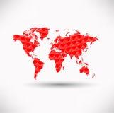 De wereld van harten Stock Foto