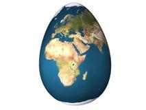 De wereld van het ei Royalty-vrije Stock Foto's