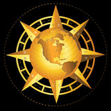 De Wereld van het kompas Stock Foto's