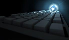 De Wereld van het toetsenbord Stock Afbeelding