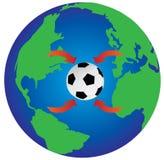 De wereld van het voetbal royalty-vrije illustratie