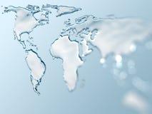De wereld van het water Stock Foto