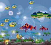 De wereld van het water vector illustratie