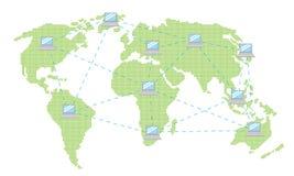 De wereld van Internet Stock Foto