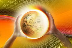 De wereld van Internet www Stock Fotografie
