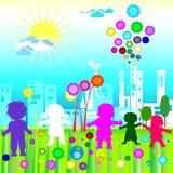De Wereld van kinderen royalty-vrije illustratie