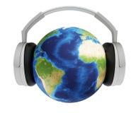De wereld van muziek Royalty-vrije Stock Foto's
