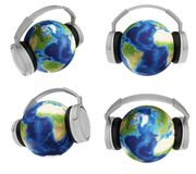 De wereld van muziek Stock Fotografie