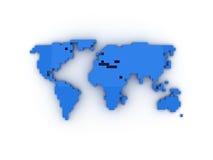 De Wereld van Pixelated Stock Afbeelding