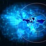 De Wereld van technologie Stock Afbeeldingen
