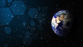 De wereld van technologieachtergrond royalty-vrije stock afbeeldingen