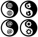 De Wereld van YinYang, Web, Toestel Stock Fotografie