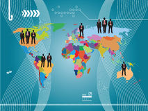 De wereld van zakenlieden Stock Afbeeldingen