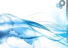 De wereldachtergrond van de technologie Stock Afbeeldingen