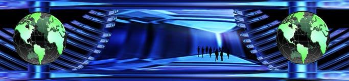 De wereldbanner van het kristal vector illustratie