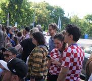 De Wereldbeker 2018 gelijke Frankrijk van FIFA versus Kroatië Royalty-vrije Stock Afbeelding
