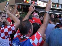 De Wereldbeker 2018 gelijke Frankrijk van FIFA versus Kroatië Royalty-vrije Stock Afbeeldingen