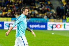 De Wereldbeker 2018 gelijke van FIFA de Oekraïne - Kroatië Royalty-vrije Stock Foto's
