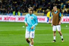 De Wereldbeker 2018 gelijke van FIFA de Oekraïne - Kroatië Stock Fotografie