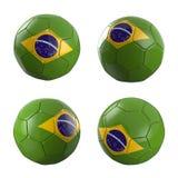 De Wereldbeker van de het voetbalbal van Brazilië 2014 vector illustratie